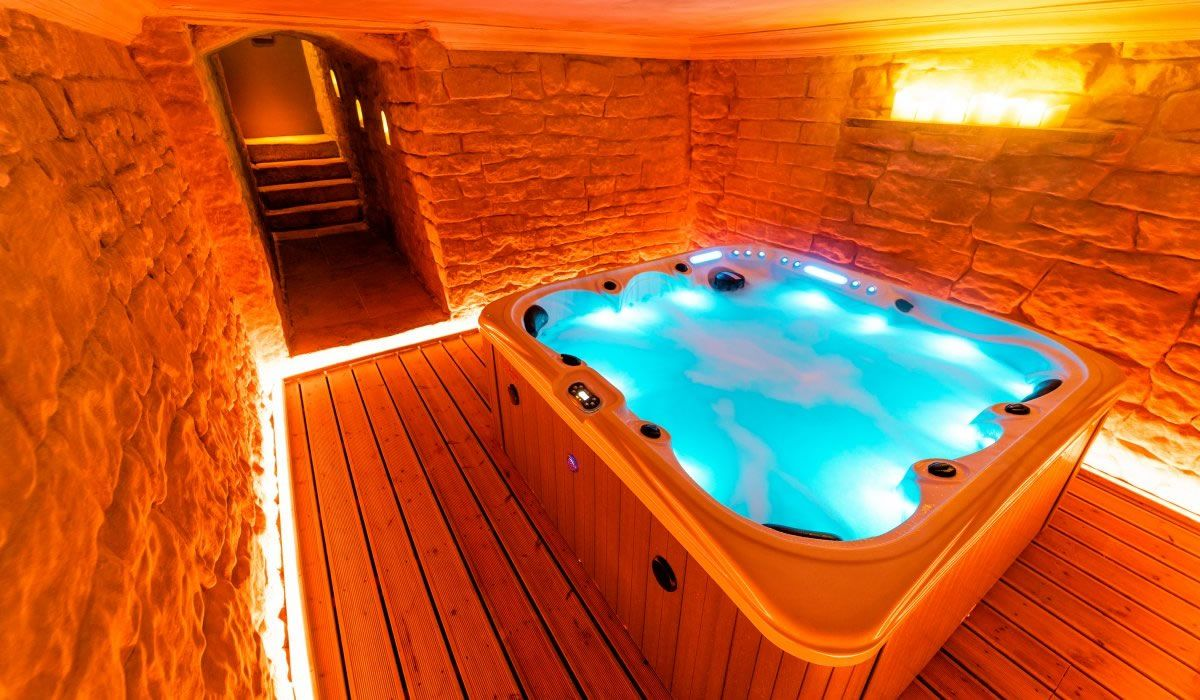 house hot tub bath